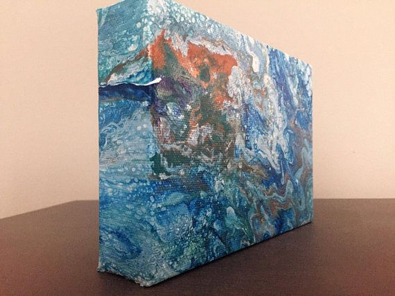 Acrylic Pour Painting Using Floetrol Silicone And Acrylic Paints