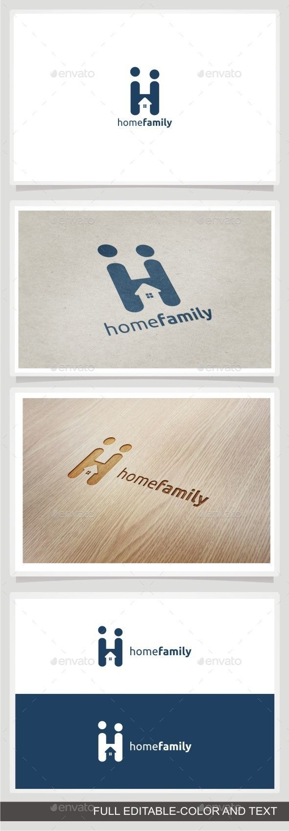 Home Family Logo Design Template Vector #logotype Download it here:  http://graphicriver.net/item/home-family/10236123?s_rank=460?ref=nexion