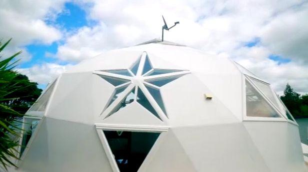 Новая Зеландия(Окленд)белый купольный дом, купольный дом построить из экспертов для разработки DOMEHOUSE информацию