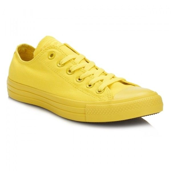 Chuck Taylor All Star Aurora Yellow Trainers ($22) ❤ liked on Polyvore featuring shoes, sneakers, star sneakers, canvas sneakers, yellow canvas sneakers, breathable sneakers and converse sneakers