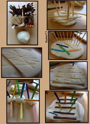 """Patterns in play dough from Rachel ("""",)"""