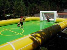 Pvc comercial melhor qualidade inflável campo de futebol campo de futebol de sabão(China (Mainland))