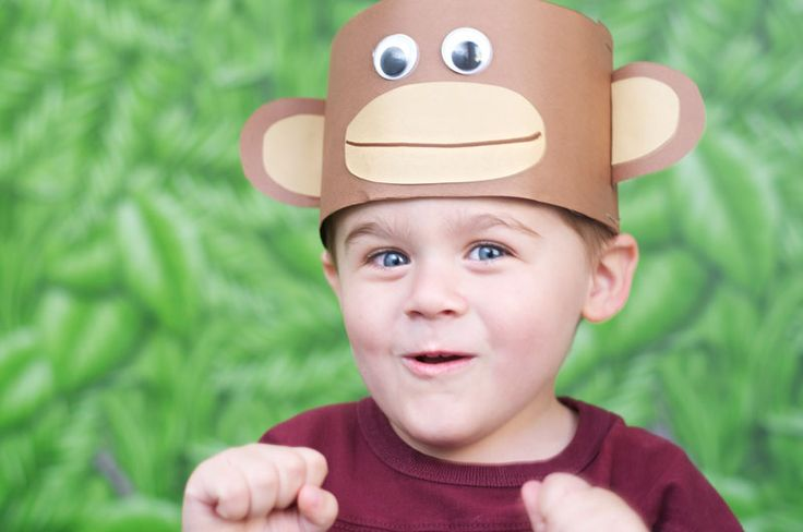 Monkey Hat craft for kids