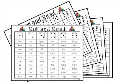Mrs. Gilchrist's Class: Roll and Read *Freebie*