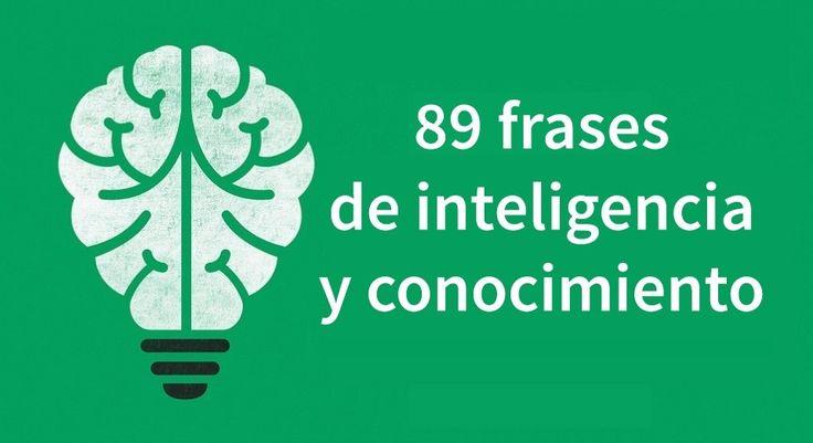 Esta selección de 89 frases sobre la inteligencia, el conocimiento y la sabiduría pueden enseñarte valiosas lecciones de la vida. Citas de Einstein, Goethe...