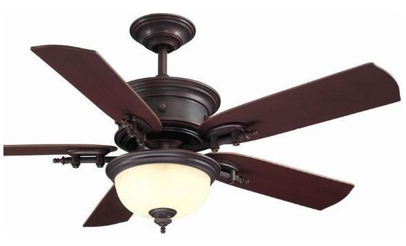 Hampton bay dawson 54 inch ceiling fan with light kit remote weathered copper new bedroom for Bedroom ceiling fans with lights and remote