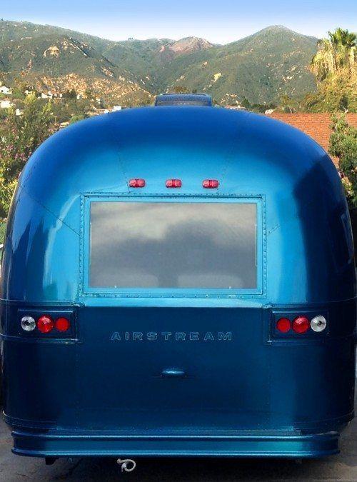 Luna Blue Trailer Airstream Moon Back Rear