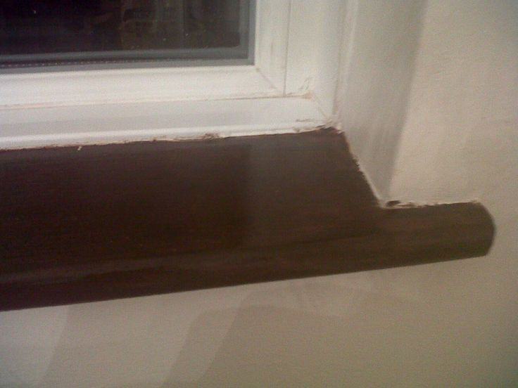 Window sill in dining room after#1 (needs a tidy up when it dries!)
