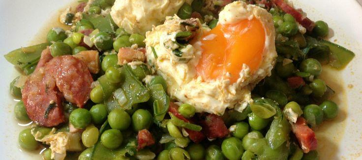 Ervilhas com Ovos Escalfados « A Cozinhar com Amor
