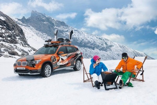 The BMW Concept K2 Powder Ride which targets winter sports enthusiasts will de