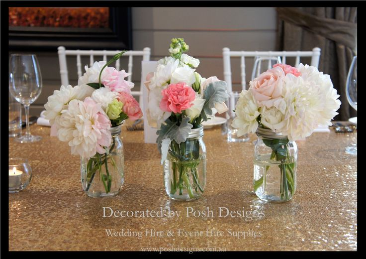 #glassjars #masonjars #vintagetablecentres #wedding #theming available at #poshdesignsweddings - #sydneyweddings #southcoastweddings #wollongongweddings #canberraweddings #southernhighlandsweddings #campbelltownweddings #penrithweddings #bathurstweddings #illawarraweddings  All stock owned by Posh Designs Wedding & Event Supplies – lisa@poshdesigns.com.au or visit www.poshdesigns.com.au or www.facebook.com/.poshdesigns.com.au #Wedding #reception #decorations #Outdoor #ceremony decorations