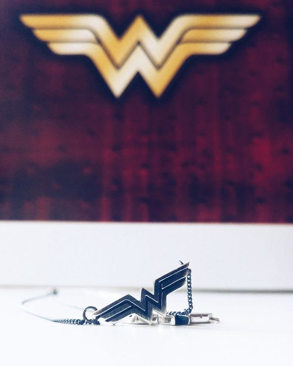 A tribute to DC comics Amazonian warrior princess : Wonder Woman in Sterling Silver on a 45 cm sterling silver chain  Each pendant comes packaged in it's own hand-made solid wood gift box