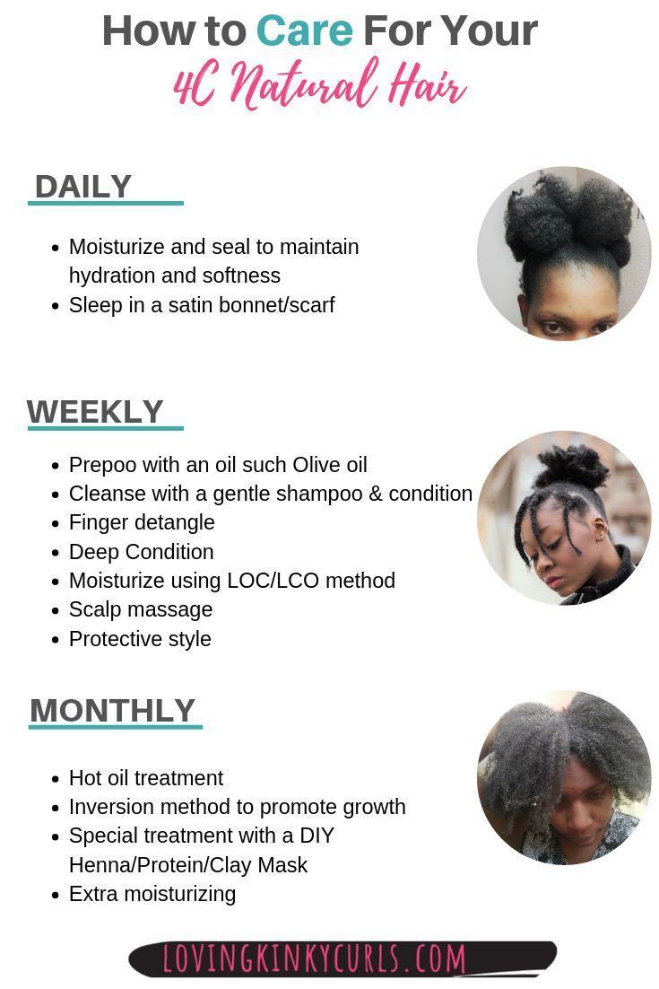 4c Natural Hair Care Kann Eine Herausforderung Sein Wenn Sie Keine