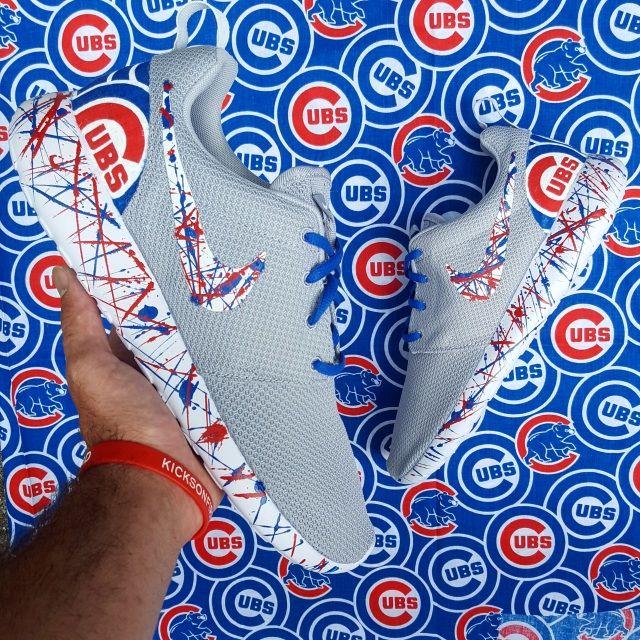 Nike Roshe One Custom 'GO CUBS GO' Edition