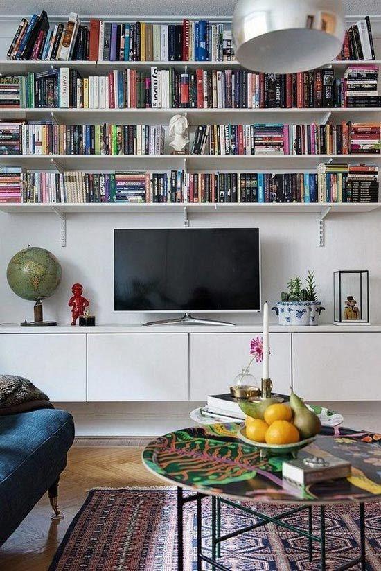 Parete attrezzata o libreria in soggiorno? Tanti esempi ...