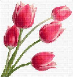 tulips cross stitch chart