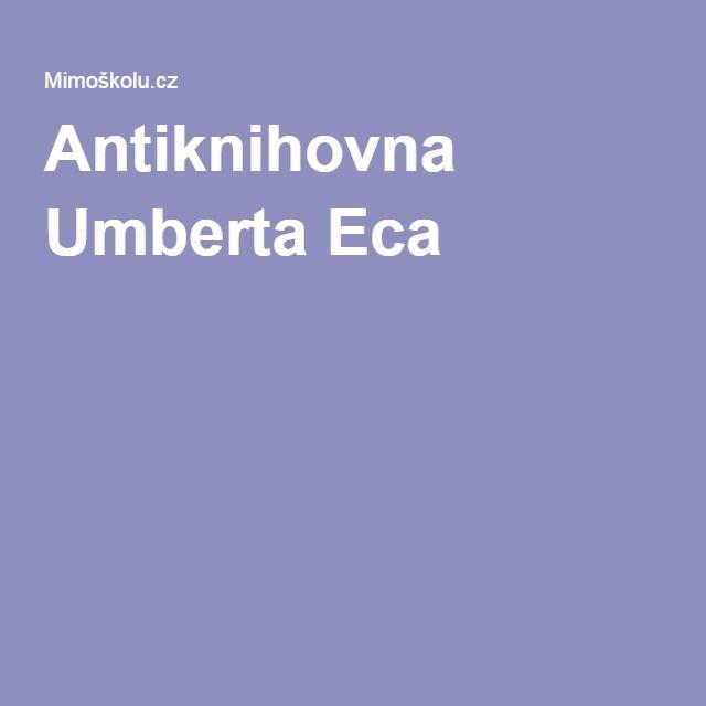 Antiknihovna Umberta Eca