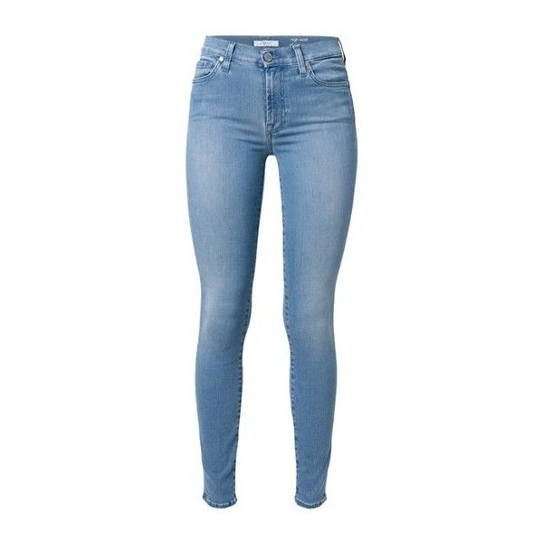 SEVEN JEANS Skinny Jeans (£155) ❤ liked on Polyvore featuring jeans, pants, bottoms, calças, light blue, blue jeans, denim skinny jeans, light blue jeans, skinny leg jeans and skinny jeans