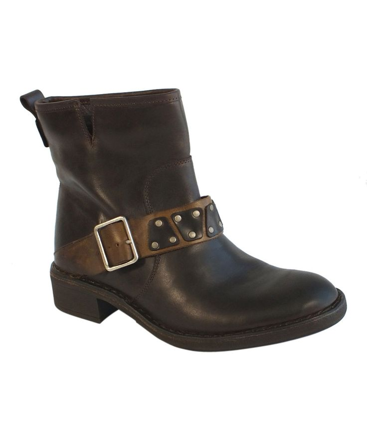 FLY London Brown & Camel Fiba Ankle Boot by FLY London #zulily #zulilyfinds