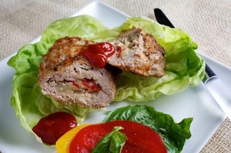 Antipasto-Stuffed Turkey Burgers