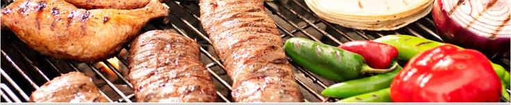Chuletas de cerdo marinadas en maple con salsa de frutas con hueso