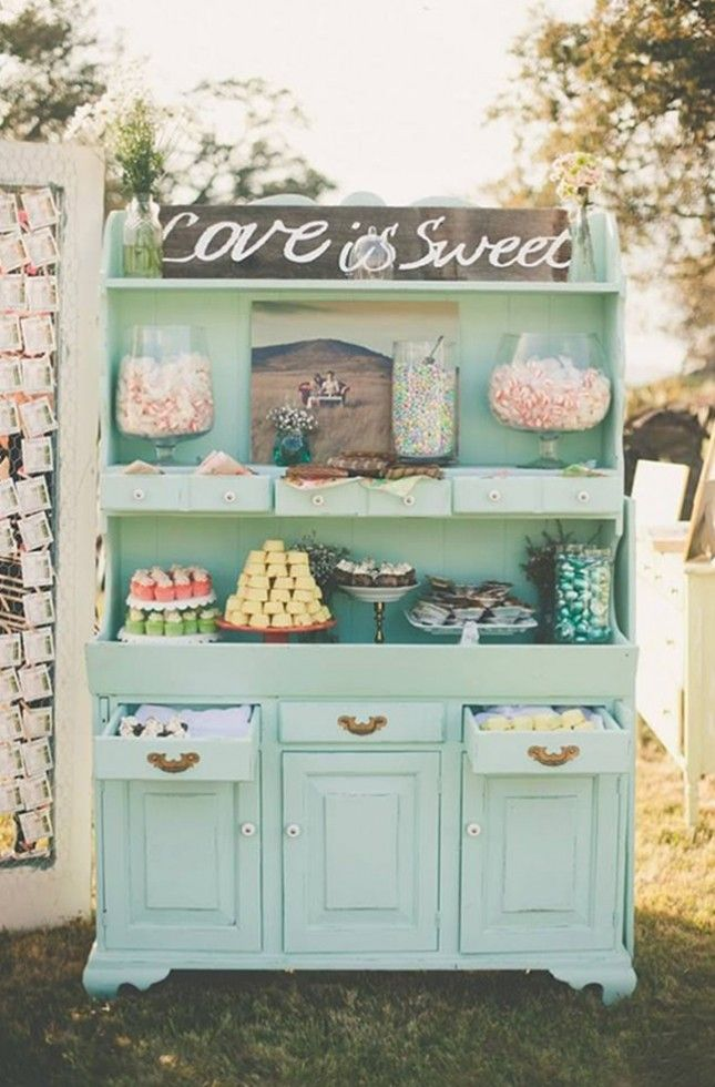 18 Sweet Wedding Dessert Bar Ideas via Brit + Co.