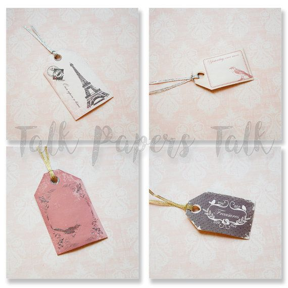 Gift tags wedding  Vintage inspired gift tags  by TalkPapersTalk