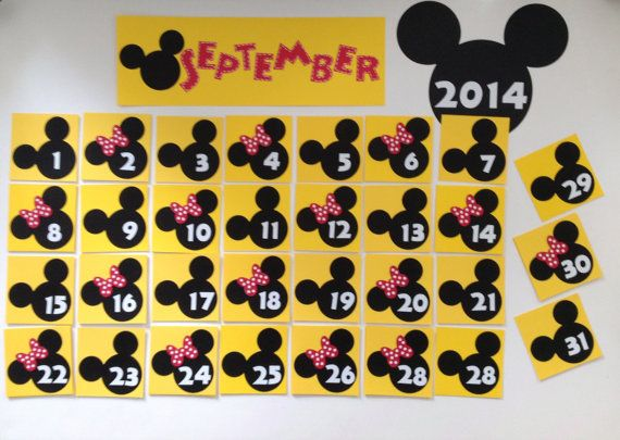 Disney Calendar and Weather Chart Cards - Mickey and Minnie Mouse