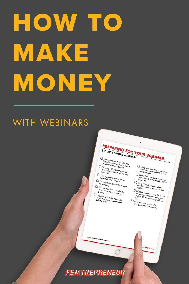 If you're wondering how to make money with webinars, this episode is for YOU. We're going through our best, tried and tested strategies and sharing it all so you can host a profitable webinar.  Listen in now and don't forget to download the Ultimate Webinar Checklist! http://femtrepreneur.co/blog/make-money-with-webinars