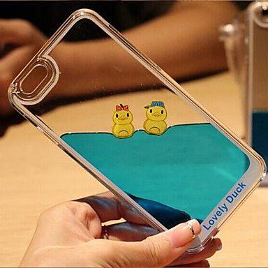 drôle liquide fluide coulant design cristal de canard jaune clair dur couvercle du boîtier en plastique pour iPhone 5 / 5s de 4447540 2016 à €5.87 Mais