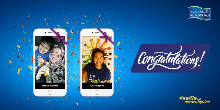 Al Rawabi congratulates the winners of the iphone contest!!! Our heartfelt gratitude to all the participants