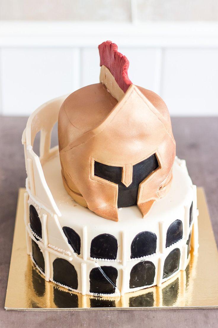 Birthday cake - rome, colloseum, gladiator