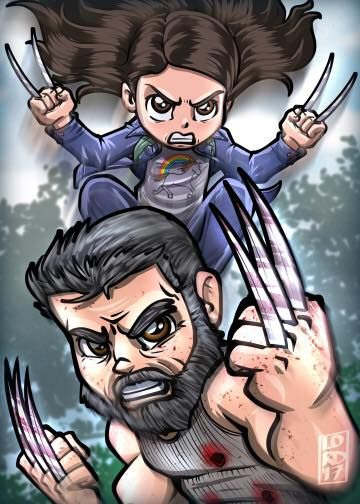 The Logan Movie with X23. By. Lord Mesa Art.------- #Marvel