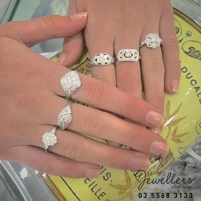 Any favourites here ❤️? #vintage #leskesdiamondssparklemore #exclusivedesigns #diamonds #anniversary #birthday #taxrefund #portfairy #portfairyjeweller