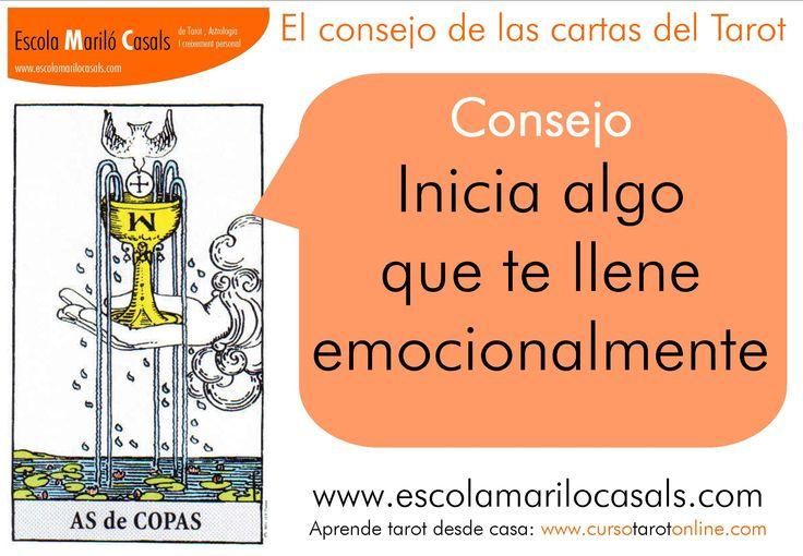 Inicia algo que te llene emocionalmente.  #consejoTarot #aprenderTarot #arcanosmenores #copas #caliz #As #copas #poprtunidad #emocional #implicación #sentimientos #elemento #agua #estudiartarot #barcelona #escuelatarot #escuelaonline #tarotfácil #arcanos #menores