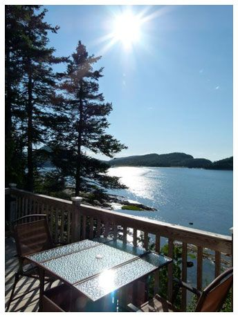 Cottage in Le Bic, Bas-Saint-Laurent, Quebec, Canada. Great view on St-Lawrence river.