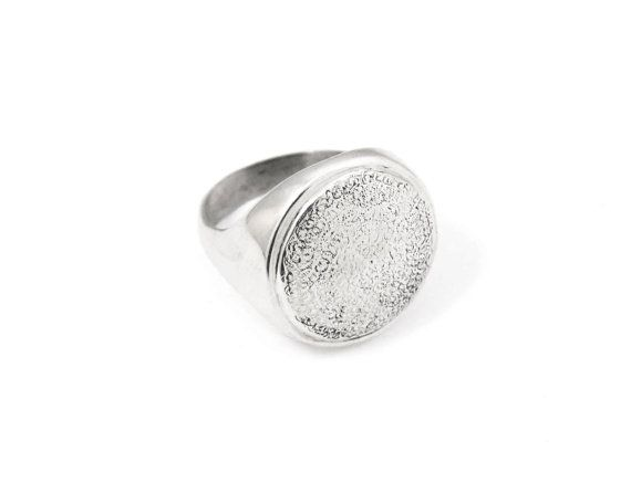 Sterling silver ring with a domed top with an by NatashaGjewellery, $130.00