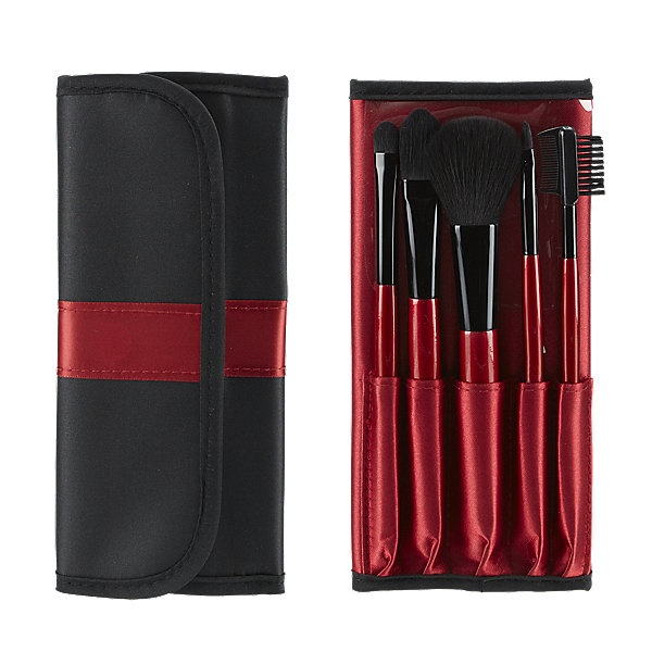 Face Secrets Holiday 5 Pc Travel Brush Set With Wrap Bag From Sally Beauty Supply