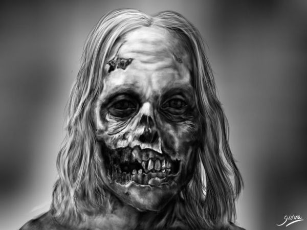 Walking Dead Zombie Drawing | The Walking Dead - Zombie by ~Giova94 on deviantART by patti