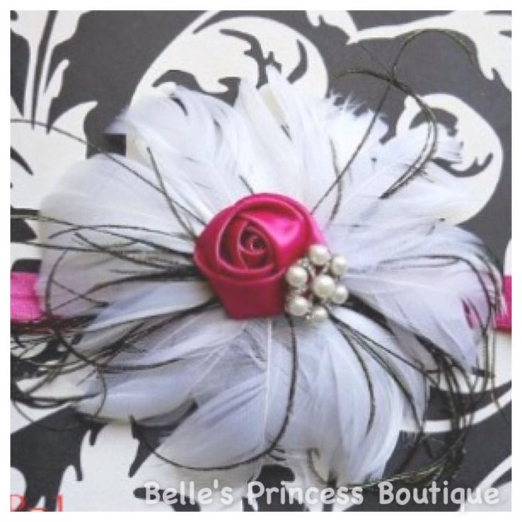 Pink Rosette Headband · Belle's Princess Boutique · Online Store Powered by Storenvy