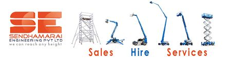 """The most common are called <a href=""""http://www.sendhamarai.in/aluminium_scaffolding_bangalore.html """">scaffold</a> couplers, there are three basic types: right-angle couplers, putlog couplers and swivel couplers. Other common materials include base plates, ladders, ropes, anchor ties, reveal ties, wheels, sheeting, etc. For more details <a href=""""http://www.sendhamarai.in/aluminium_scaffolding_bangalore.html """">Aluminium Scaffolding</a>"""