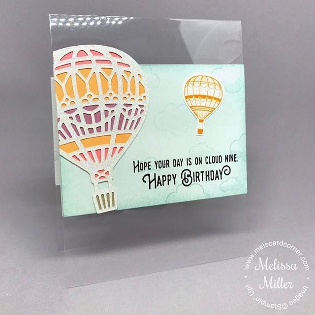 "Gefällt 44 Mal, 2 Kommentare - Melissa Miller (@melscardcorner) auf Instagram: ""The hot air balloons from the @stampinup Lift Me Up bundle are perfect for a clear card! All the…"""