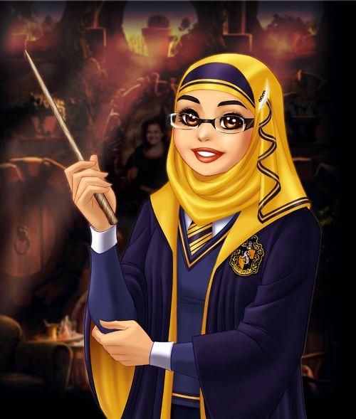Hogwarts Hijaabi!    @Safiah AbdelJawad, @Razaan Barquni, @Meena Islam.  <3