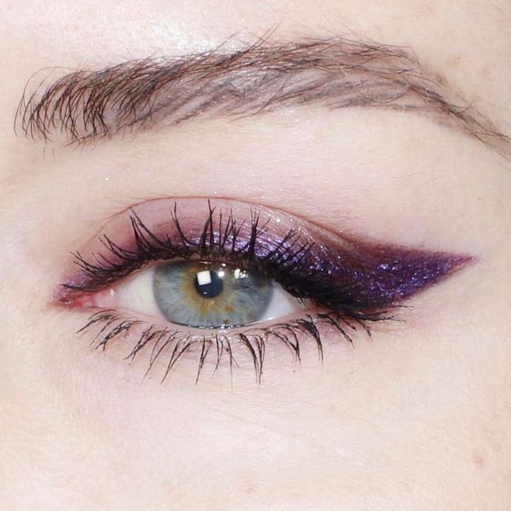 Purple Eyeliner Trend Makeup Looks Photos Products