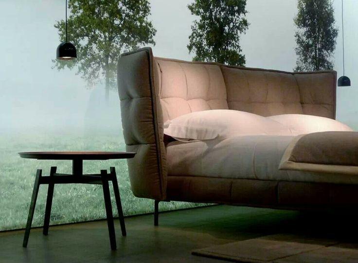 husk small table husk bed design by patricia urquiola imm cologne 2014 bebitalia. Black Bedroom Furniture Sets. Home Design Ideas