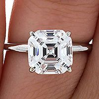 Perfect Asscher Cut Diamond Solitaire Engagement RIng This is my dream ring I love this