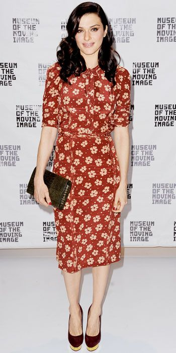 Rachel Weisz in printed Bottega Veneta dress at a screening of 'The Deep Blue Sea'