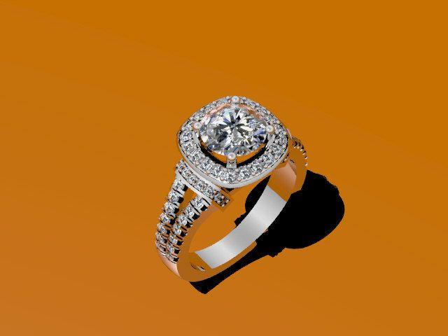 Diamant-Verlobungsring 14K Weißgold mit 6,5 mm Charles und Colvard Round Forever One Moissanite Center Fine Jewelry Classic Etsy-V1009