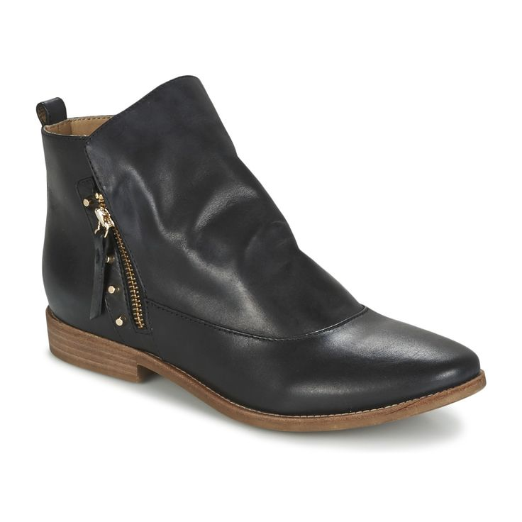 Geox ELIXIR C Noir pas cher prix promo Boots Femme Spartoo 139.00 €