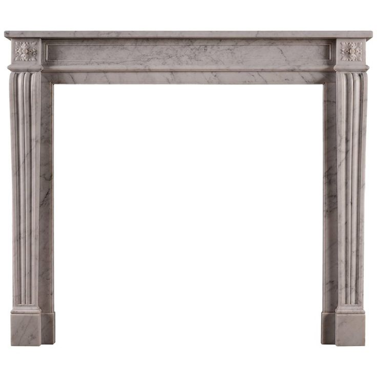 19th Century Carved Marble Fireplace In The Louis Xvi Style